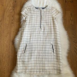 Zara Girls White Black Plaid Lined Dress Sz 13/14